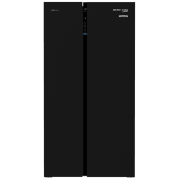Voltas Beko 640 Litres Frost Free ProSmart Inverter Side-by-Side Refrigerator (Neo Frost Dual Cooling, RSB665GBRF, Glass Black)_1