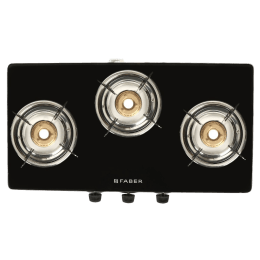Faber Power 3BB SS 3 Burner Glass Gas Stove (Feather touch Nylon Control, 106.0630.987, Silver)_1