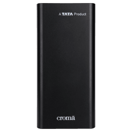 Croma 20000mAh 2-Port Power Bank (Built-in Rechargeable Battery, CRCA0086, Black)_1