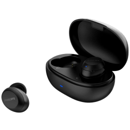 Philips 1000 Series In-Ear Noise Isolation Truly Wireless Earbuds with Mic (Bluetooth 5.1, Smart Pairing, TAT1235BK/97, Black)_1