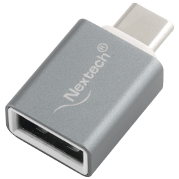 Nextech USB 3.1 (Type-C) to USB 3.0 (Type-A) OTG Adapter (Nickle Plated Connector, NA4C, Grey)_1