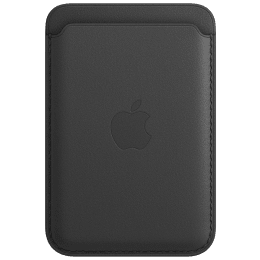 Apple MagSafe Leather Back Case For iPhone 12 Pro, iPhone 12 Pro Max, iPhone 12 Mini, iPhone 12 (Strong Built-in Magnets, MHLR3ZM/A, Black)_1