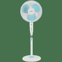 Havells Trendy 40cm Sweep 3 Blade Pedestal Fan (Double Ball Bearing, FHSTRNSBLW16, Blue White)_1