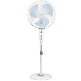 Havells Trendy 40cm Sweep 3 Blade Pedestal Fan (Double Ball Bearing, FHSTRNSGRY16, Grey)_1