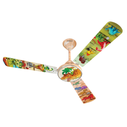 Havells Saurous World 120cm Sweep 3 Blade Ceiling Fan (Double Ball Bearing, FHCWLSTYEL48, Multicolor)_1