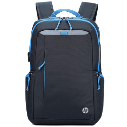 HP Lightweight 500 17 Litres Polyester Backpack for 15.6 Inch Laptop (USB Charging Plug, 1B3M8AA, Black)_1