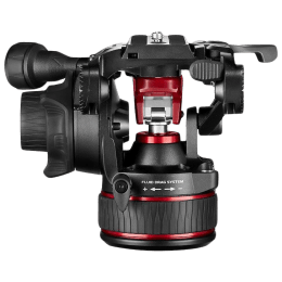Manfrotto Nitrotech 608 Tripod Head For Any Manfrotto Video Tripod (360 Degree Panoramic Rotation, MVH608AH, Black)_1