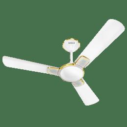 Havells Enticer Art 120cm Sweep 3 Blade Ceiling Fan (Dust Resistant, FHCEASTPWN48, Pearl White)_1