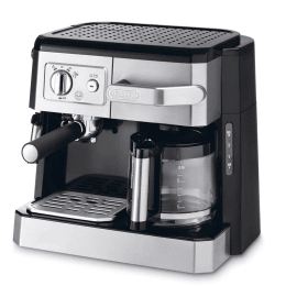 DeLonghi 4 Cups Semi-Automatic Coffee Maker (Makes Expresso and Filter Coffee, BCO420, Black)_1