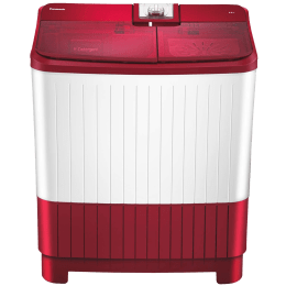 Panasonic 8 kg 5 Star Semi-Automatic Top Load Washing Machine (Active Foam System, NA-W80H5RRB, Shiny Red)_1
