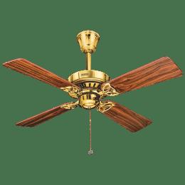 Usha Hunter Bayport 106.7cm Sweep 4 Blade Ceiling Fan (Inverter Compatibility, 111033428H, Brown)_1