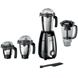 Bosch TrueMixx Pro 750 Watts 4 Jars Mixer Grinder (Stone Pounding Technology, MGM8642BIN, Black)_1