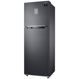 Samsung 275 Litres 3 Star Frost Free Inverter Double Door Refrigerator (Convertible, RT30A3743BX/HL, Luxe Black)_1
