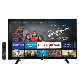 Croma Fire TV 108cm (43 Inch) Full HD LED Smart TV (3 Years Warranty, Alexa Voice Assistant Remote, CREL7365, Black)_1