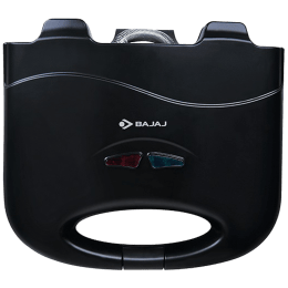 Bajaj SWX 4 Deluxe 800 Watts 2 Slice Automatic Grill+Toast Sandwich Maker (Cool Touch Handle, 270106, Black)_1