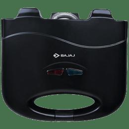 Bajaj SWX 3 Deluxe 800 Watts 2 Slice Automatic Grilling+Toasting Sandwich Maker (LED Neon Indicator, 270105, Black)_1