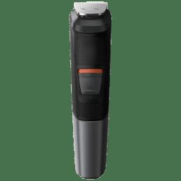 Philips Multigroom Series 5000Stainless Steel Blades Cordless 11-in-1 Grooming Kit (DualCut Technology, MG5730/15, Black)_1