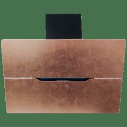 Faber Jolie 1000 m³/hr 80cm Wall Mount Chimney (Electronic Backlight Control, Copper Leaf A80, Copper)_1