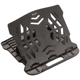 Palo PALO018 Laptop Stand For Laptop (Ergonomic Design, Black)_1