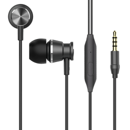 Lumiford U60 In-Ear Wired Earphone with Mic (Multi-Functional Control Button, Black)_1