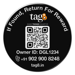 tag8 Digital Phone Recovery Tag (AI Enabled, 800020, Black)_1