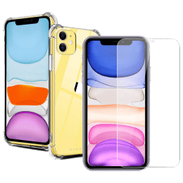 Hyphen Back Case and Screen Protector Bundle (Wireless Charging Support, HPC-DTGXI1364, Clear)_1