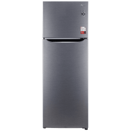 LG 308 Litres 2 Star Frost Free Inverter Double Door Refrigerator (Smart Diagnosis, GL-S322SDSY, Dazzle Steel)_1