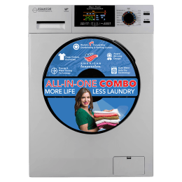Equator 9 kg/6 kg Fully Automatic Front Load Washer Dryer Combo (In-Built Heater, EZ 5000 CV, Silver)_1