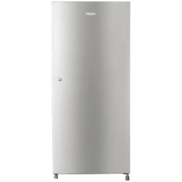 Haier 195 Litres 5 Star Direct Cool Inverter Single Door Refrigerator (1 Hour Icing Technology, HRD-1955CTS-E, Titanium Steel)_1