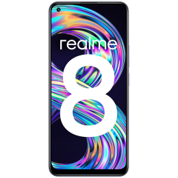 Realme 8 (128GB ROM, 8GB RAM, RMX3085, Cyber Silver)_1