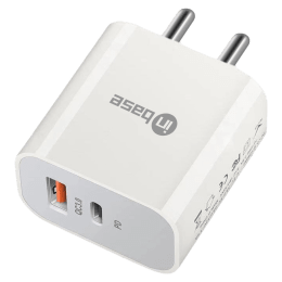 Inbase 20 Watts 2-Port USB Type-C and Power Delivery Wall Charging Adapter (Fast Charging Capability, IB-919, White)_1