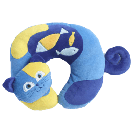 Travel Blue Kitty The Cat Polyester Neck Pillow (Soft and Comfortable, Multicolor)_1