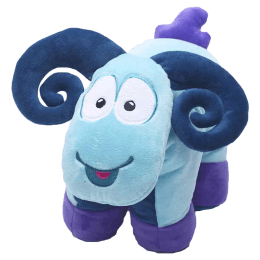 Travel Blue Sammy The Ram Polyester Neck Pillow (Soft and Comfortable, Multicolor)_1