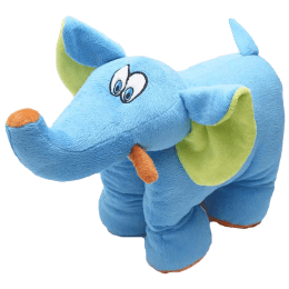 Travel Blue Trunky The Elephant Polyester Neck Pillow (Soft and Comfortable, Multicolor)_1