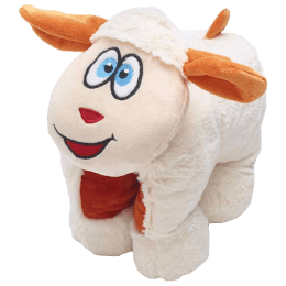 Travel Blue Snowy The Sheep Polyester Neck Pillow (Soft and Comfortable, Multicolor)_1