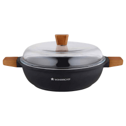 Wonderchef Caesar Casserole For Stoves & Cooktops, Induction (Non-stick Greblon Coating, 63152127, Black)_1
