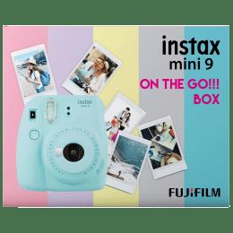 Fujifilm Instax Mini 9 On-The-Go Instant Camera Kit (Automatic Film Feeding Out, Ice Blue)_1