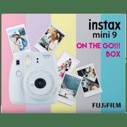 Fujifilm Instax Mini 9 On-The-Go Instant Camera Kit (Automatic Film Feeding Out, Smoky White)_1