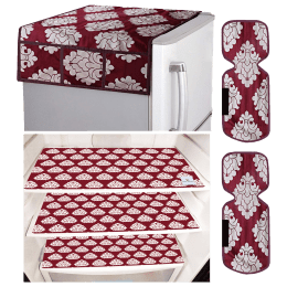 Kuber Industries Mat For Refrigerator (Easily Hand Washable, CTKTC033659, Maroon)_1