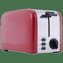 Wonderchef Crimson Edge 850 Watts 2 Slice Automatic Pop-up Toaster (Reheat Function, 63153584, Red)_1