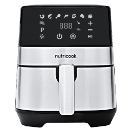 Nutricook by Nutribullet Rapid 3.6 Litres Electric Air Fryer (360-degree Circulation Technology, RAF36, Silver)_1