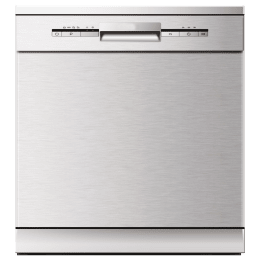 Elica 14 Place Setting Built-in Dishwasher (6 Wash Programs, WQP12-7735HR, Stainless Steel)_1