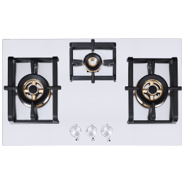 Elica Inox Pro FB MFC 3B 75 DX 3 Burner Stainless Steel Built-in Gas Hob (Cast Iron Grids, 3019, Steel)_1