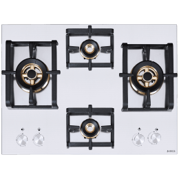 Elica Inox Pro FB MFC 4B 70 DX 4 Burner Stainless Steel Built-in Gas Hob (Cast Iron Grids, 3023, Steel)_1