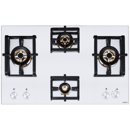 Elica Inox Pro FB MFC 4B 91 DX 4 Burner Stainless Steel Built-in Gas Hob (Cast Iron Grids, 3021, Steel)_1