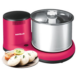 Havells Alai 150 Watts 2 Litres 2 Stones Wet Grinder (Thermal Overload Protector, GHFWGCXR015, Pink)_1