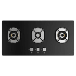 Faber Nexus IND HT803 CRS BR CI AI 3 Burner Toughened Glass Built-in Gas Hob (Auto Ignition, 106.0606.343, Black)_1