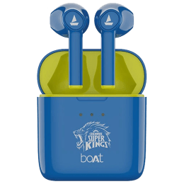 boAt Airdopes 131 CSK Edition In-Ear Truly Wireless Earbuds with Mic (Bluetooth 5.0, Voice Assistant Support, Blue)_1