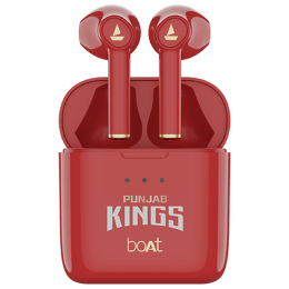 boAt Airdopes 131 Punjab Kings Edition In-Ear Truly Wireless Earbuds with Mic (Bluetooth 5.0, Voice Assistant Support, Red)_1