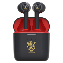 boAt Airdopes 131 RCB Edition In-Ear Truly Wireless Earbuds with Mic (Bluetooth 5.0, Voice Assistant Support, Black)_1
